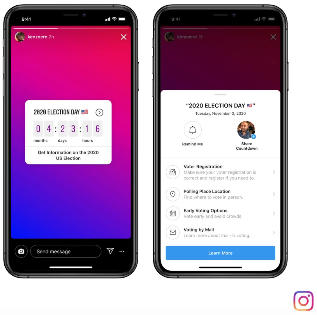 Информационное сообщение для голосования в Instagram и Facebook