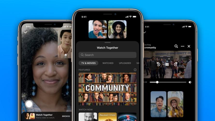 Watch Together обеспечивает совместную потоковую передачу видео-звонков