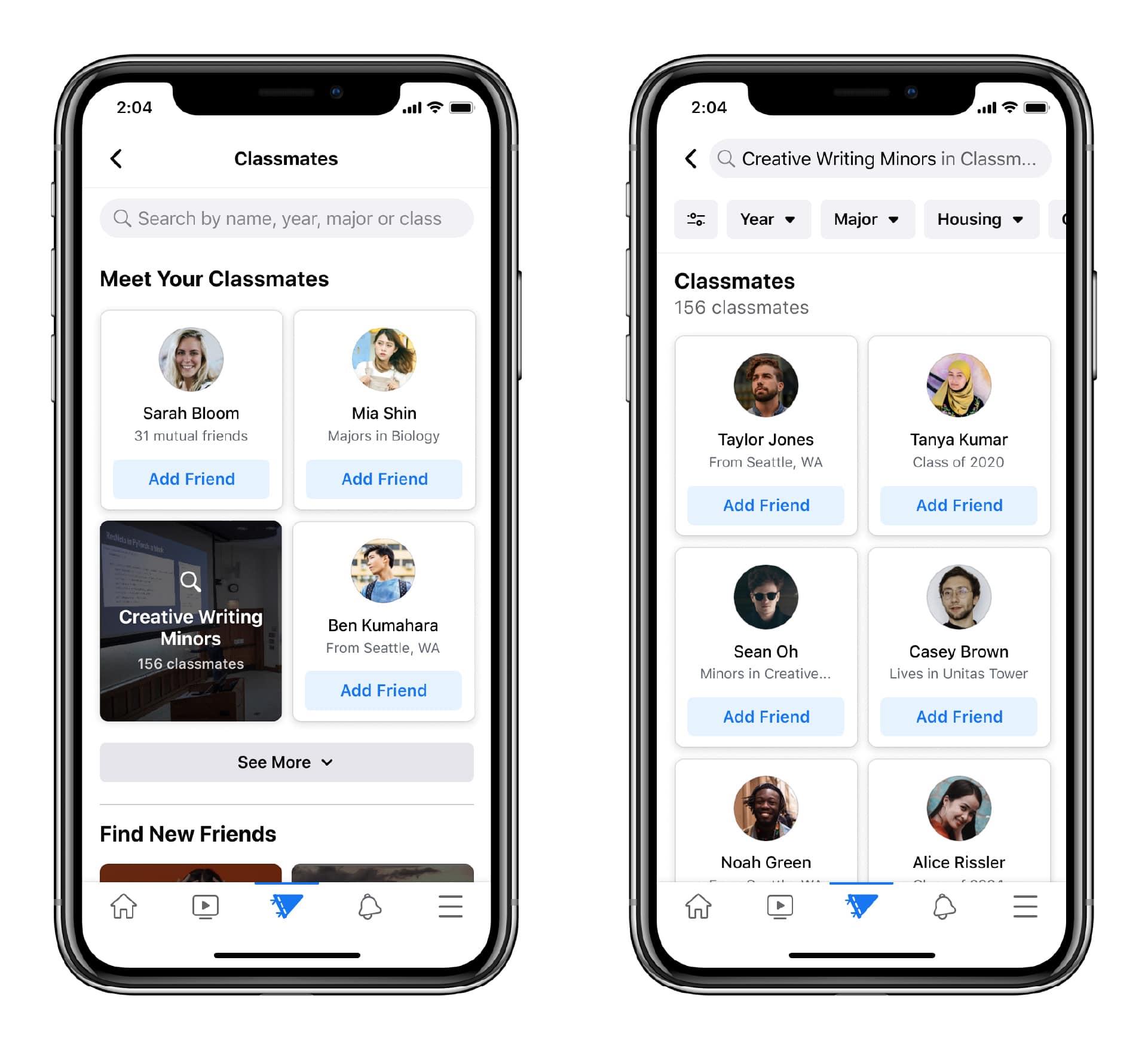 Цифровое соединение Facebook Campus для студентов