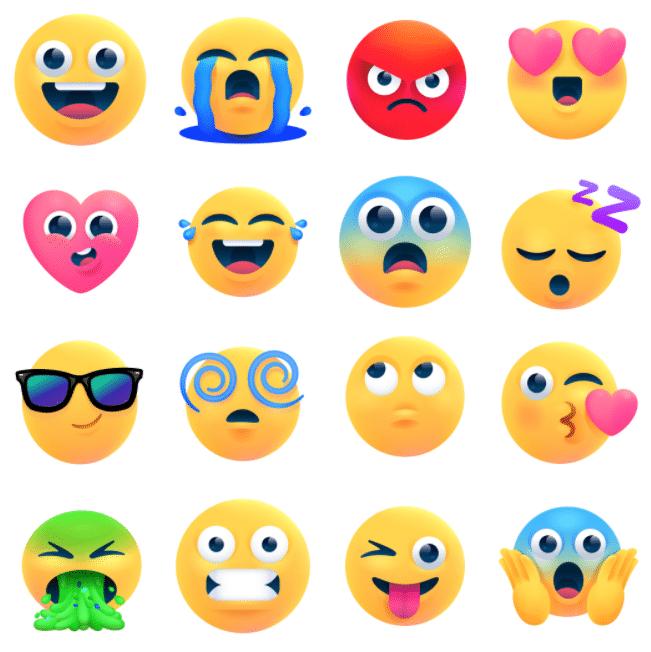 Новые обновления смайлов в Facebook Messenger