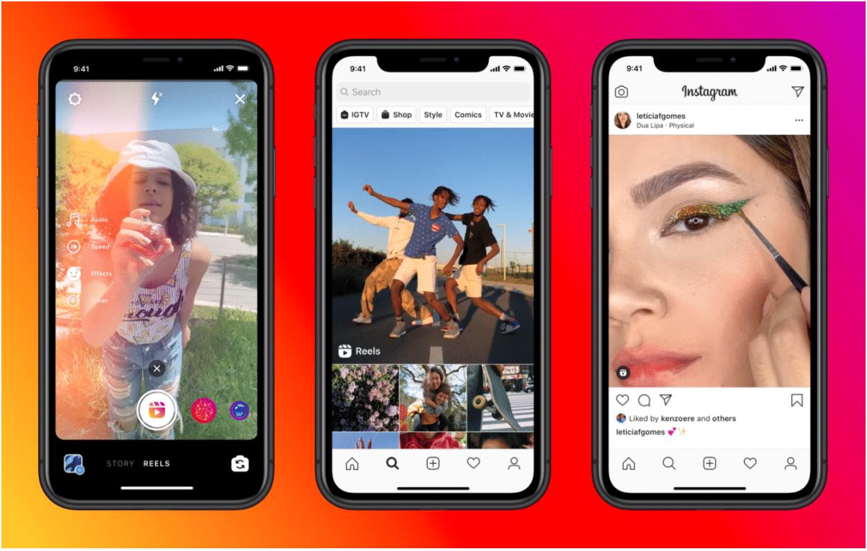 Видео и аудиоклипы Instagram TikTok