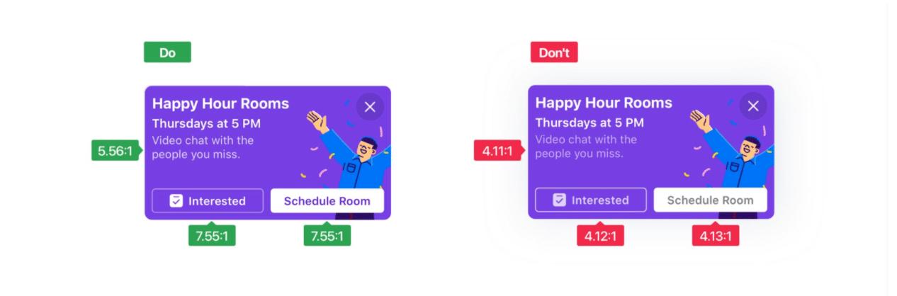 Пример цветового контраста дизайна Facebook