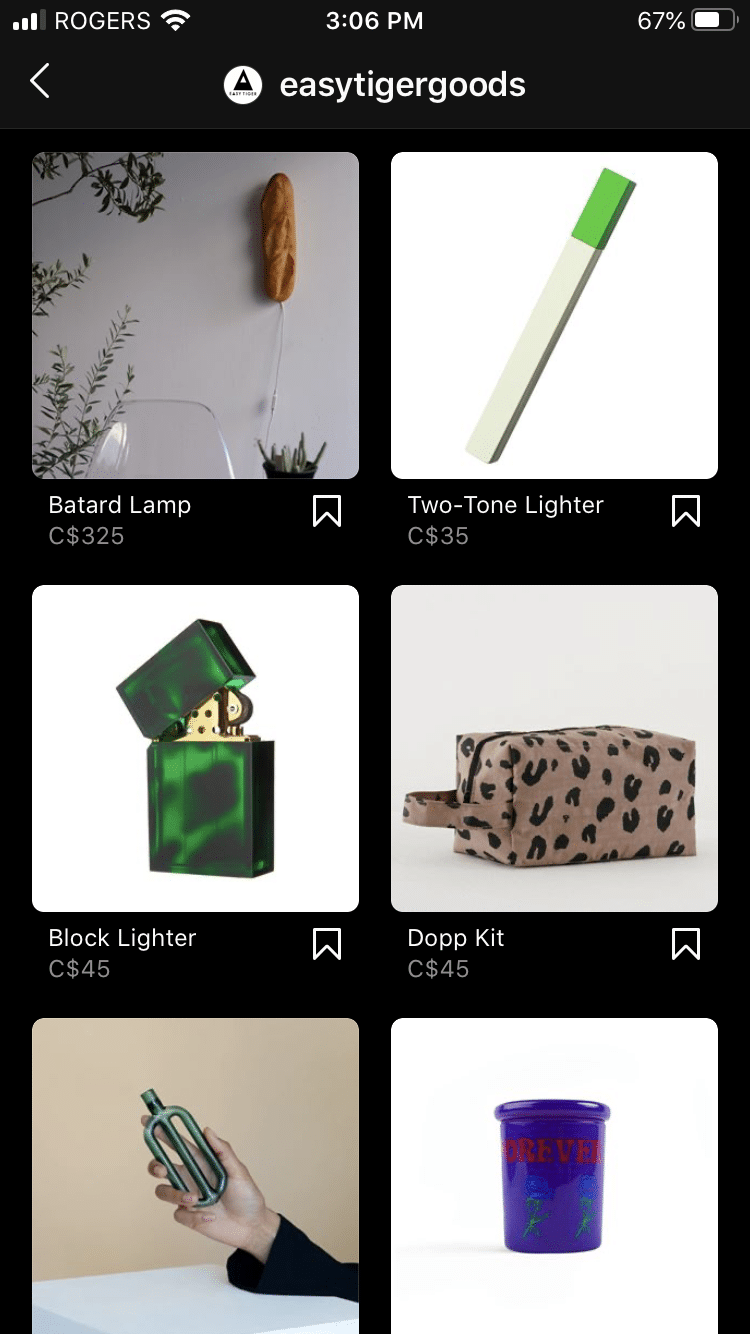 Магазин Easy Tiger Goods в Instagram