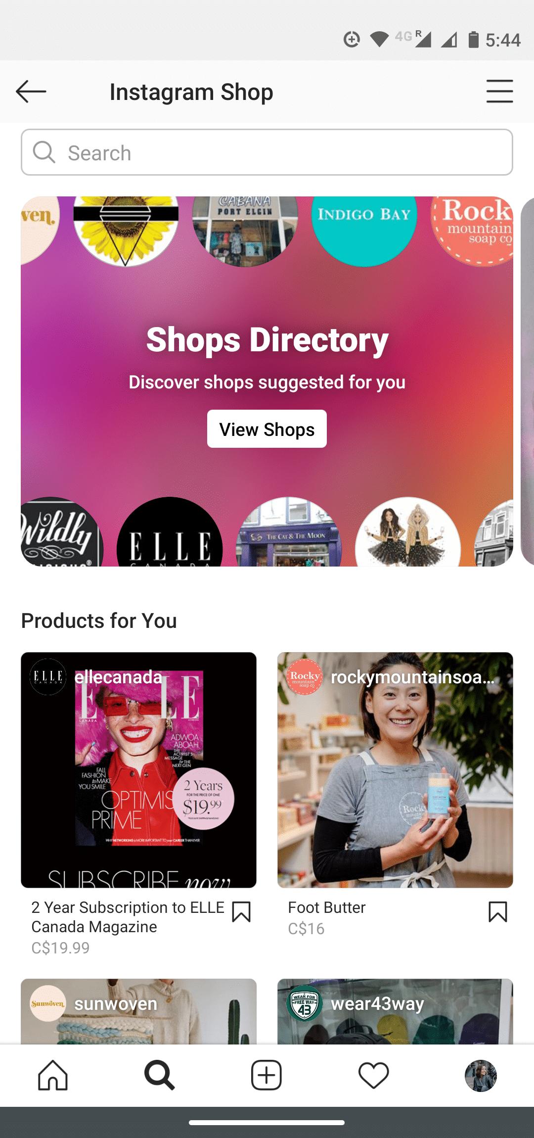Каталог магазинов