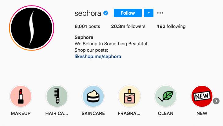 Ключевые альбомы Sephora Stories