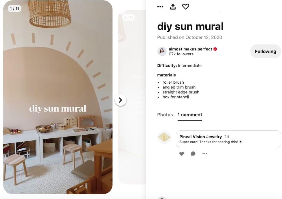 Включите социальную часть Pinterest, поставив лайки и комментируя, как Pineal Vision Jewelry