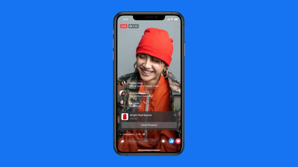 Красная шапка в Instagram Live Shopping