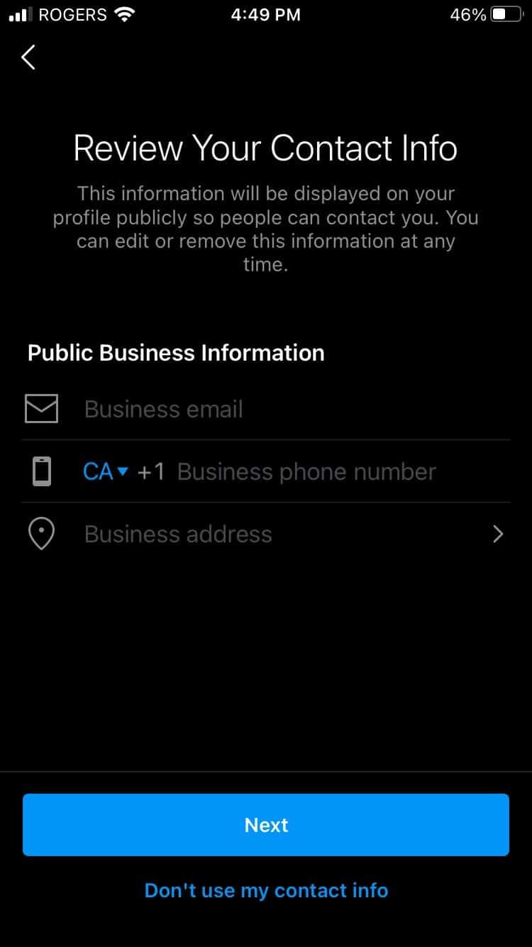 Просмотрите общедоступную контактную информацию для бизнеса