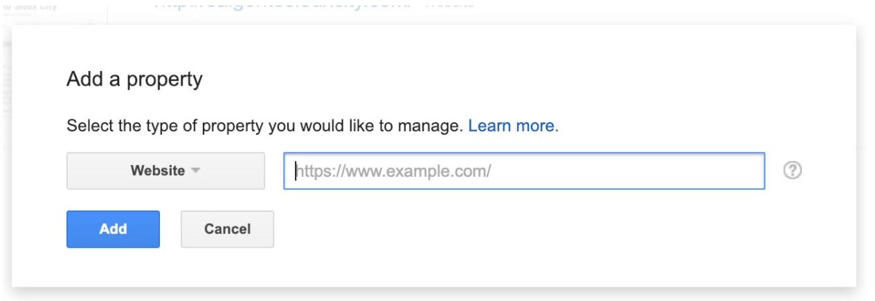 Добавить новый веб-сайт в Google Search Console