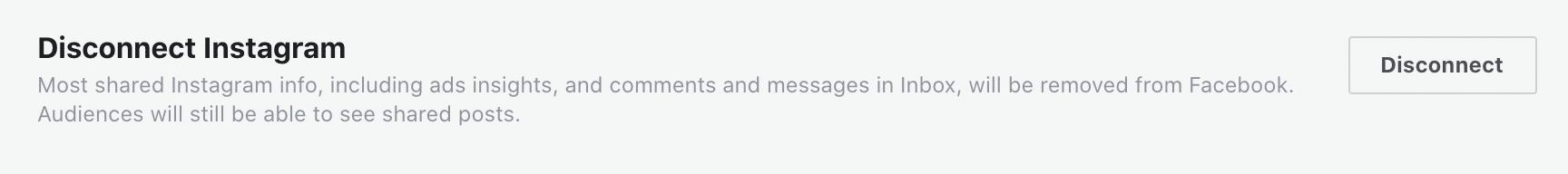 изменить страницу Facebook, связанную с Instagram