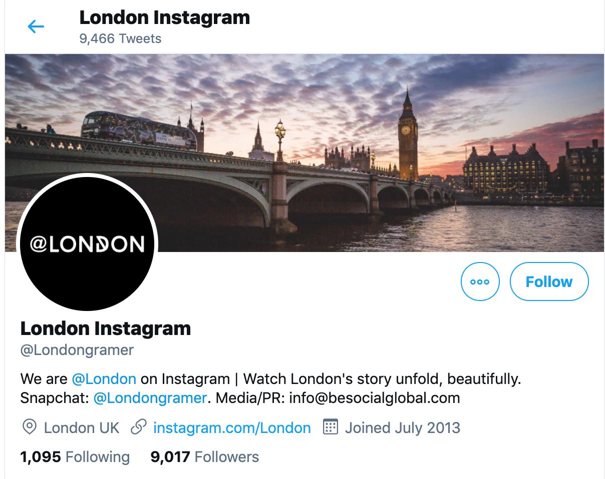 Лондон Биография Twitter