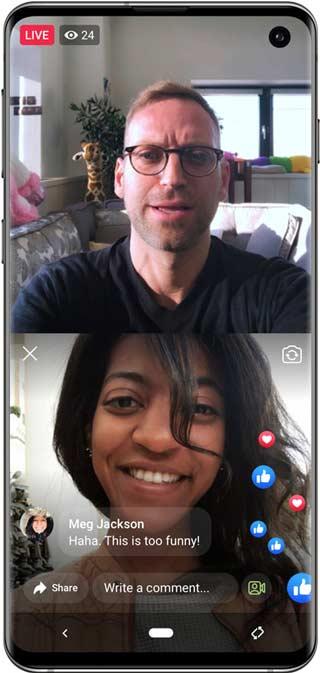 Объединитесь с гостями в Facebook Live