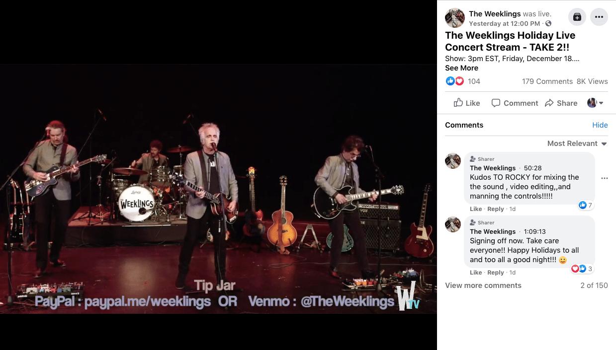 Прямая трансляция праздничного концерта Weeklings