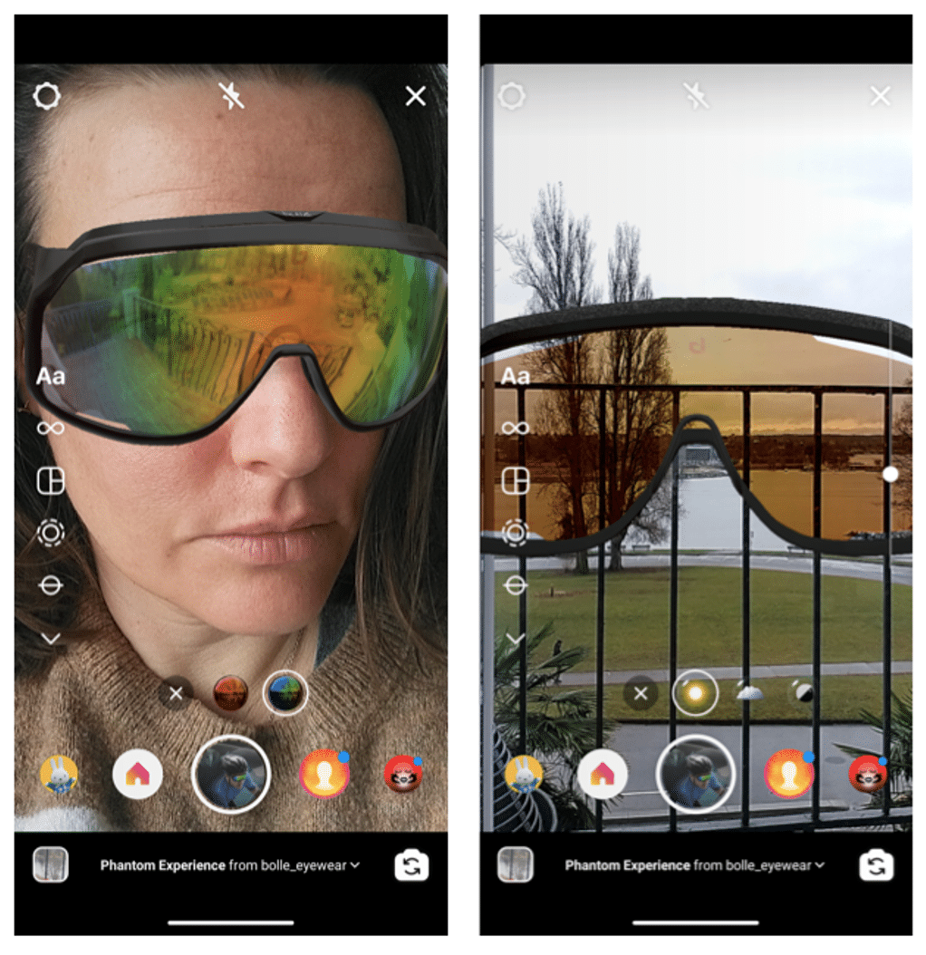 Виртуальная примерка Instagram Bolle Brands