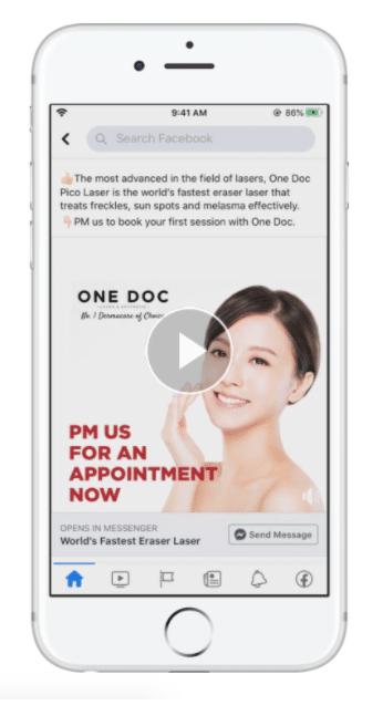 Призыв к действию кампании One Doc Laser и Aesthetic