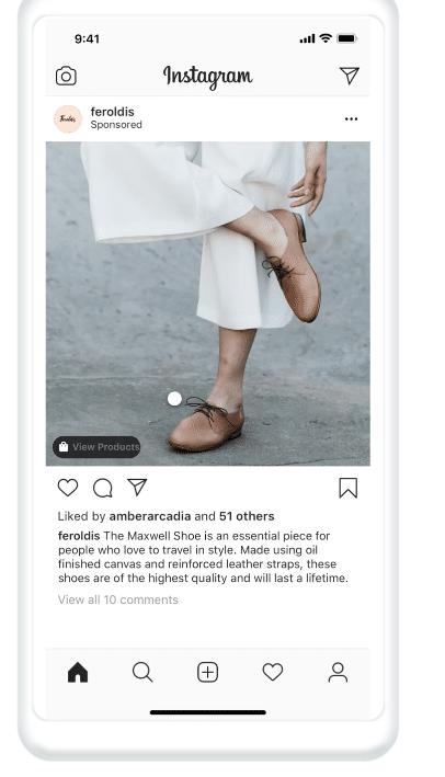 объявление о покупках в instagram