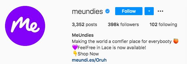 Индивидуальность бренда MeUndies