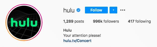 Hulu, привлекайте внимание