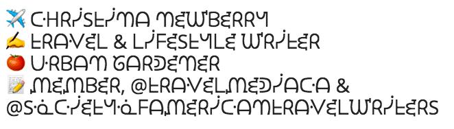 Био шрифты Instagram 3