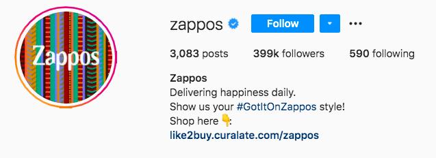Хэштег Zappos получил его на Zappos
