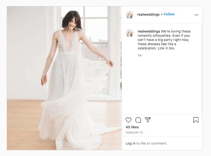 Настоящие свадьбы в модном свадебном платье Ссылка в биографии