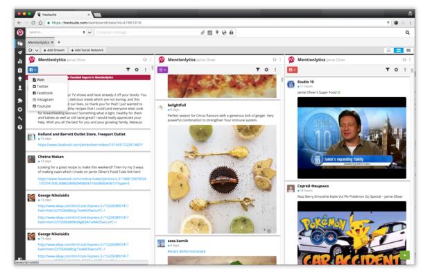 Аналитика Pinterest на панели управления Mentionlytics