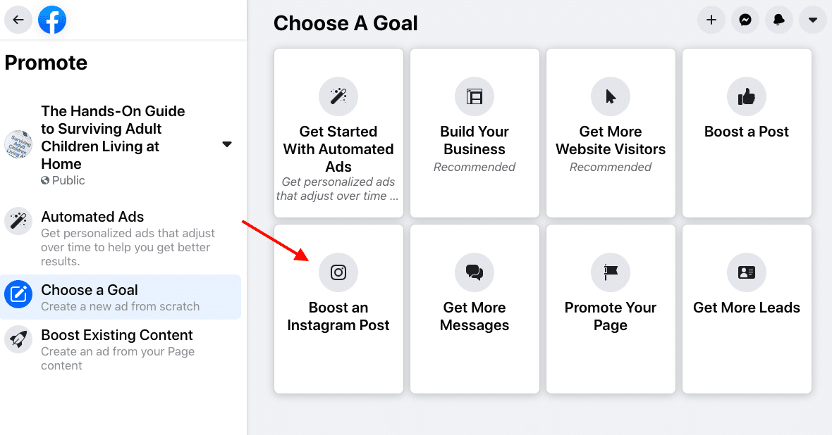 Увеличьте публикацию в Instagram