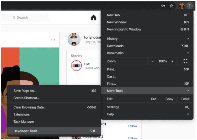 Как опубликовать в Instagram с ПК, шаг 2: Настройки браузера