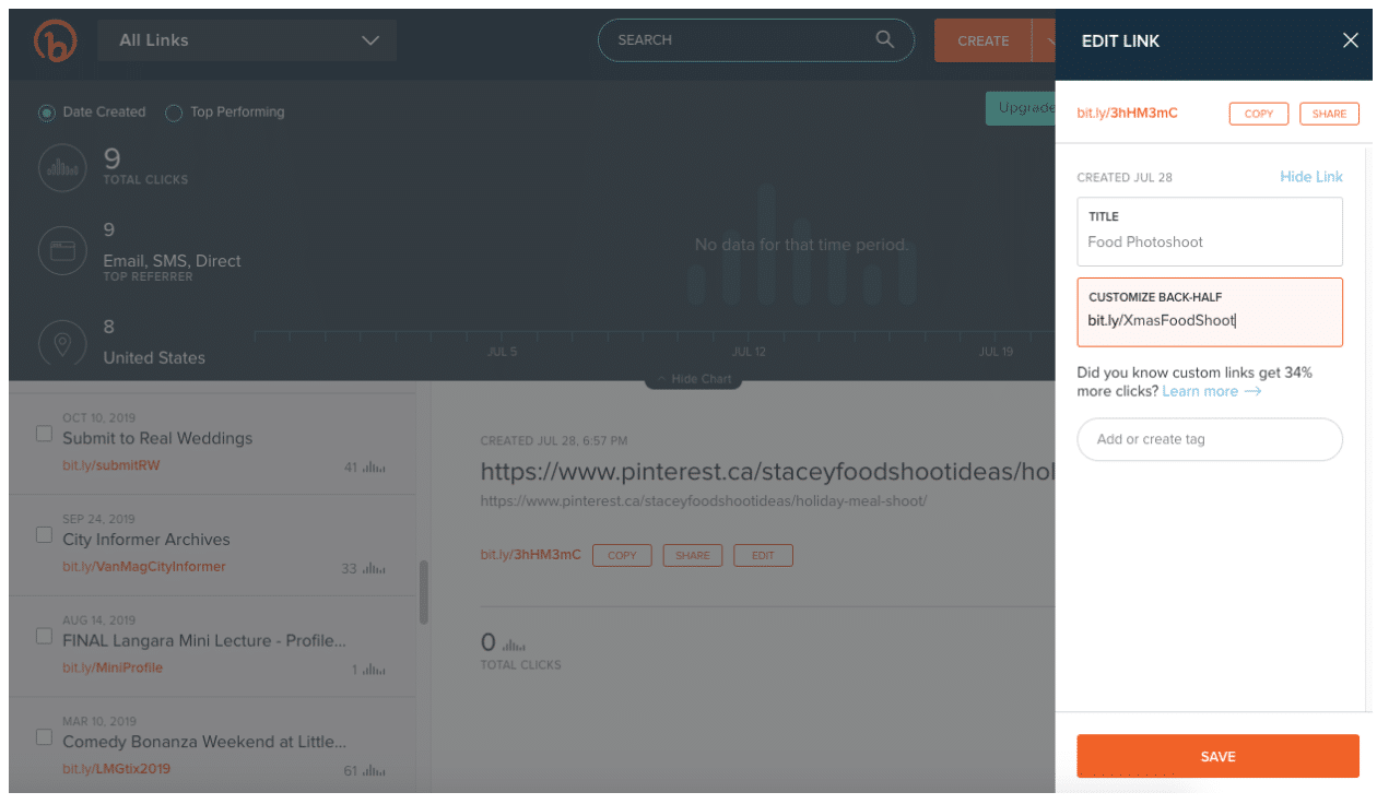 Bitly URL-сокращение