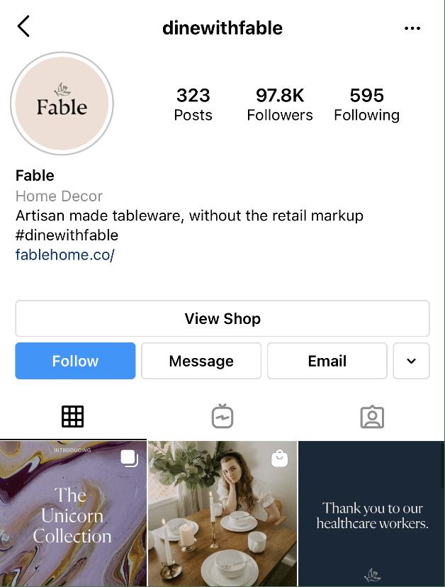 Хэштег Fable Instagram dine с басней