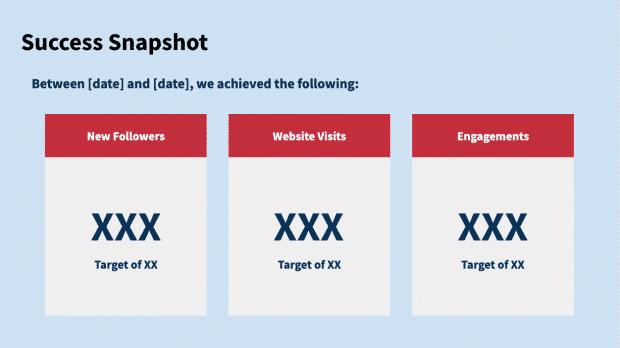 Предварительный просмотр шаблона отчета в социальных сетях