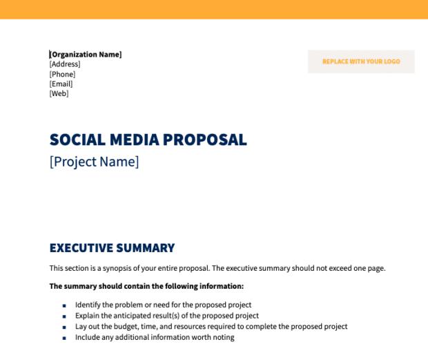 предварительный просмотр шаблона предложения для социальных сетей