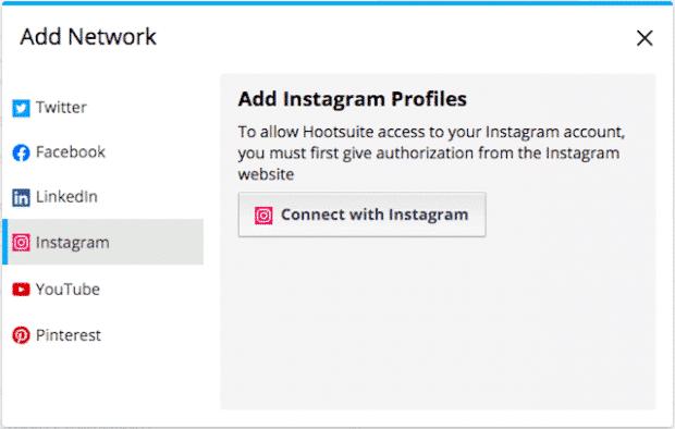 Возможность добавления нескольких профилей Instagram в Hootsuite