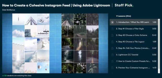 Как создать связную ленту Instagram с помощью Adobe Lightroom от Skillshare