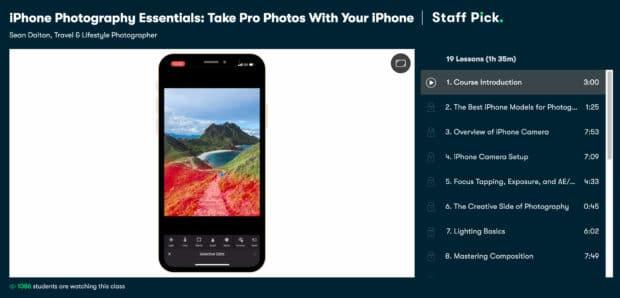 Основы фотографии iPhone от Skillshare