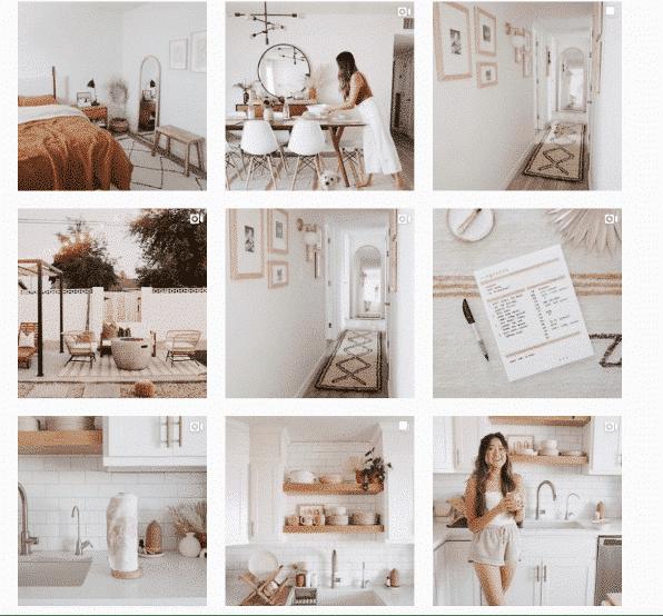 Макет сетки Instagram из @ the.orange.home