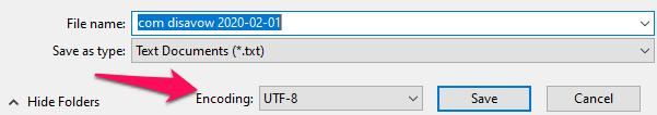 Пример сохранения файла отклонения в правильном формате.