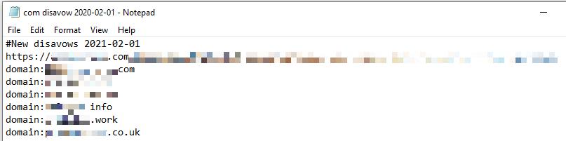 Пример файла отклонения.