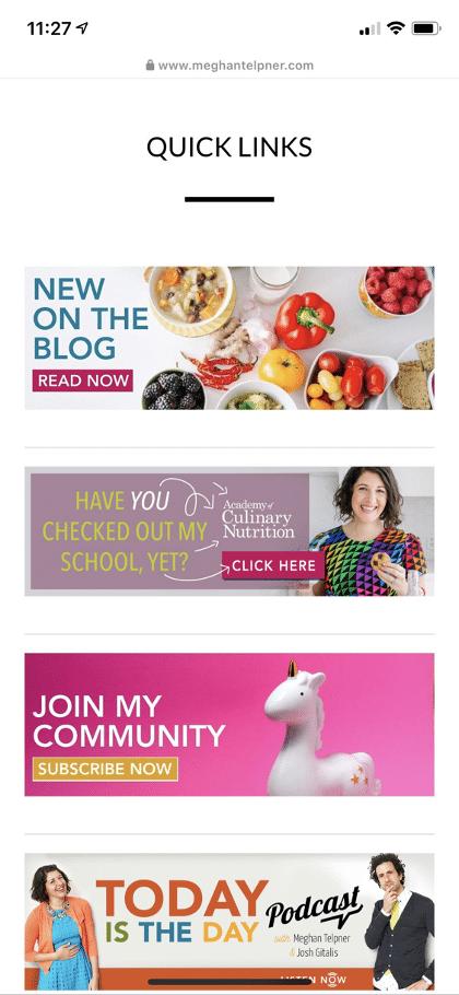 Веб-сайт Меган Телпнер