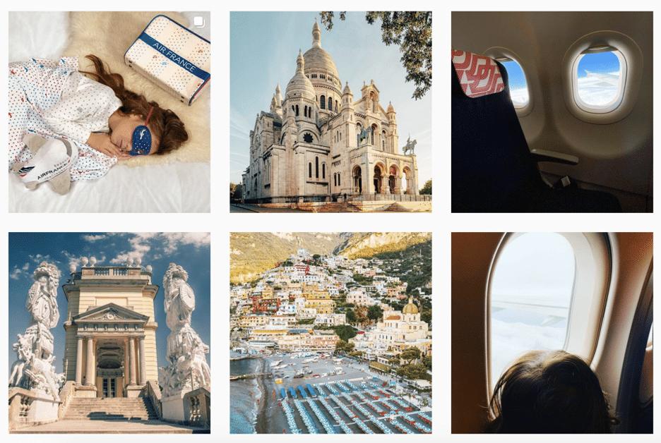 Страницы Air France в Instagram и снимки мест назначения
