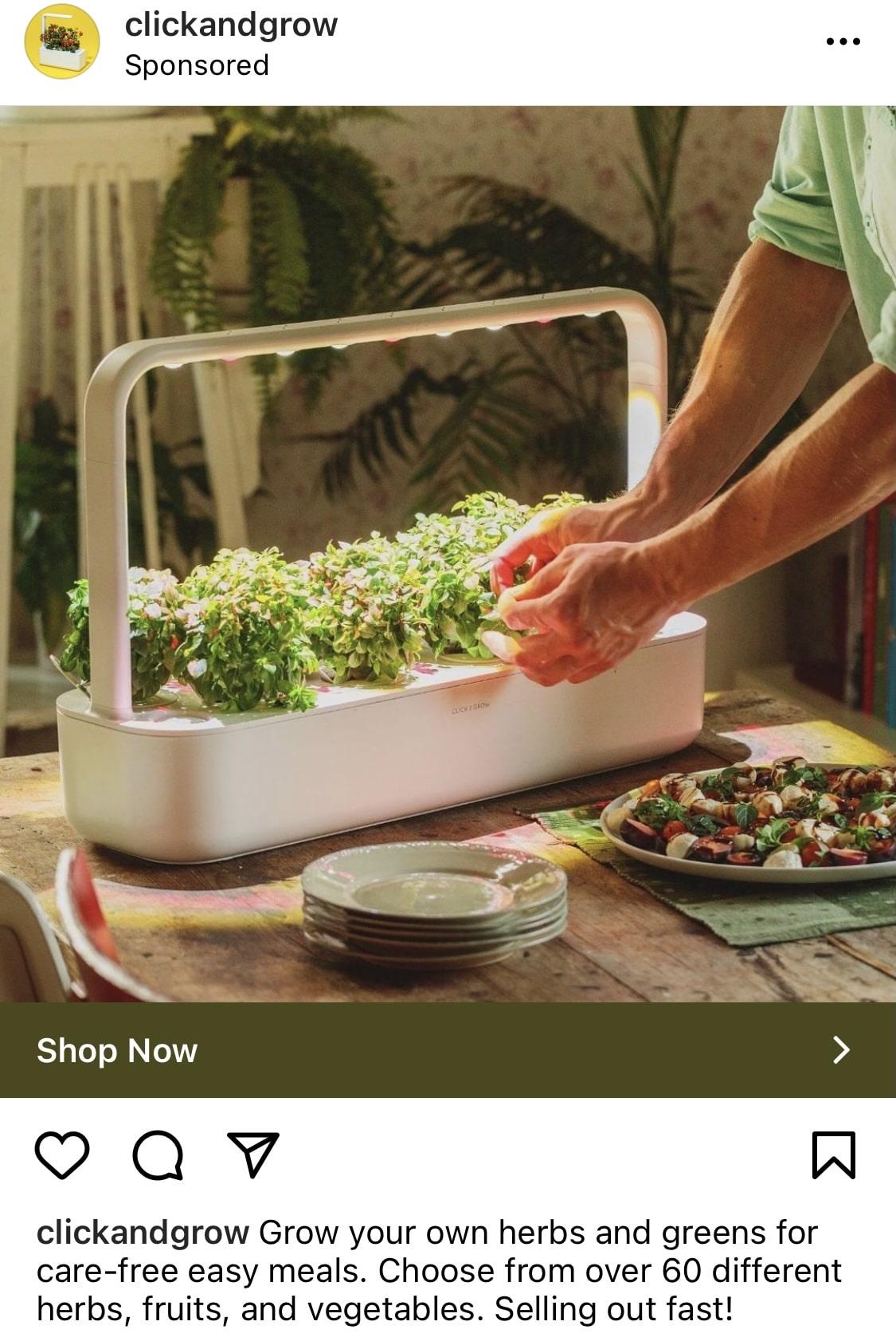 Конверсионная реклама Instagram - Click and Grow
