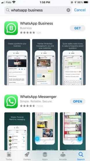 Загрузите бизнес-приложение WhatsApp