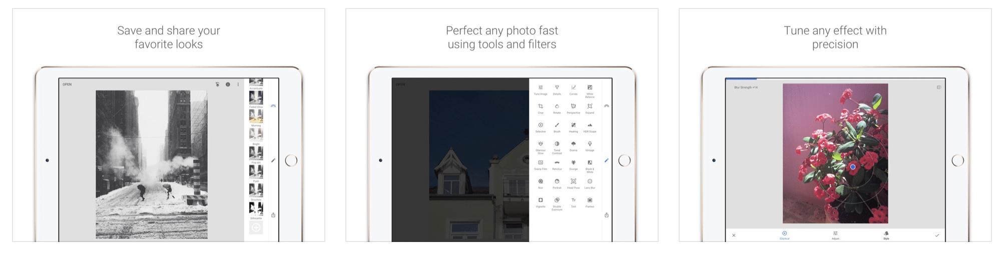 Приложение для редактирования фотографий файлов Snapseed JPG и RAW