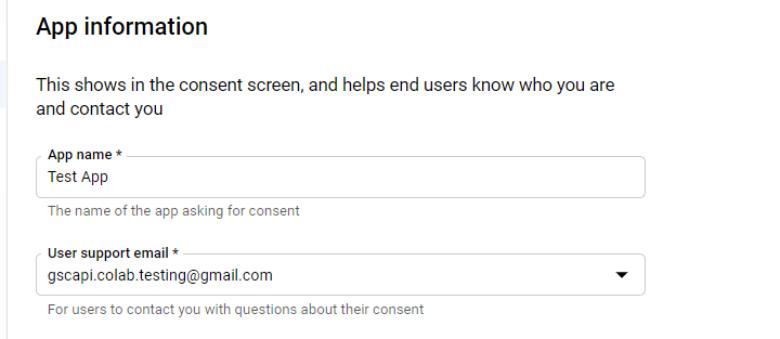 Окно информации о приложении для экрана согласия. [19659099] Раздел контактной информации разработчика на экране согласия.