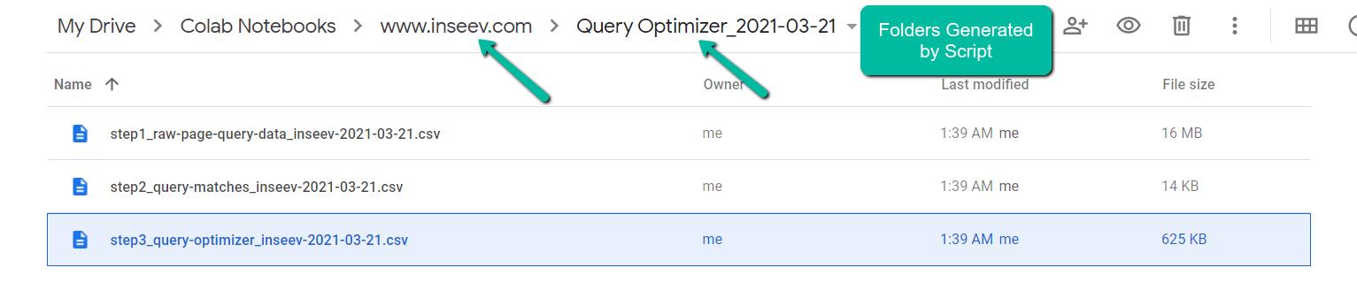 Сценарий содержит 3 файла CSV, вложенных в структуру папок на основе входной переменной domain_lookup.