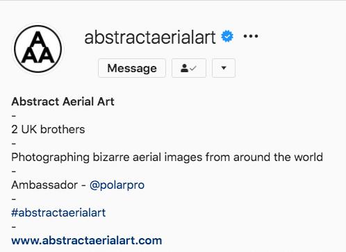 Абстрактное воздушное искусство Instagram биография