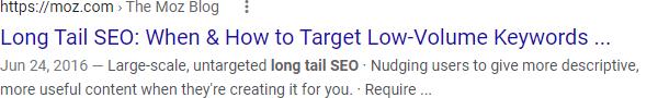 """Результат поиска Google для длиннохвостого SEO-поиска """"style ="""" opacity: 1;"""