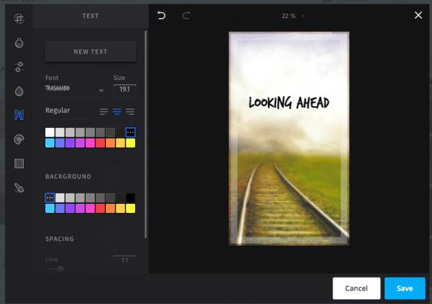 Снимок экрана с параметром кадрирования в планировщике Instagram Hootsuite