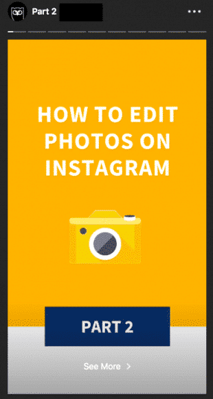 Альтернативная версия шаблона Instagram Stories что Hootsuite использует