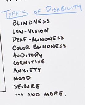 Список примеров инвалидности.